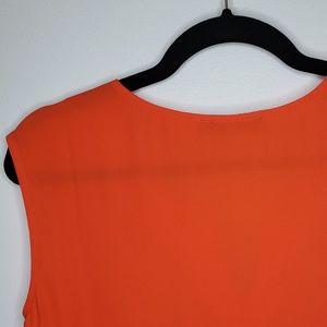 Anthropologie Tops - Anthro THML Orange Sleeveless Embroidered Top Boho